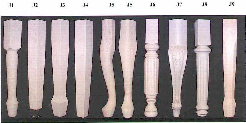 Jansen Artist Bench Leg Styles