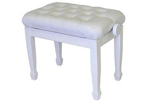 Strange White Adjustable Piano Bench Short Links Chair Design For Home Short Linksinfo