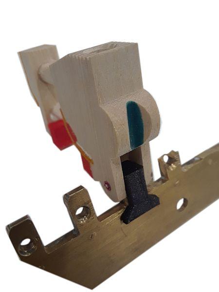 Piano Brass Rail Repair Clip Kit