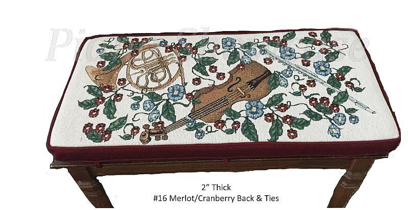 "2"" Thick-Merlot/Cranberry Back"