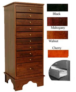 Music Storage Cabinet 42 Inch High 10 Drawer