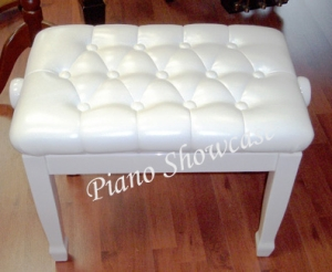 White Adjustable Piano Bench