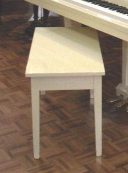 White Wood Top Piano Bench Free Shippin