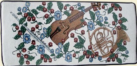 Tapestry Piano Bench Cushion Violins Amp Horns Cushion Pads