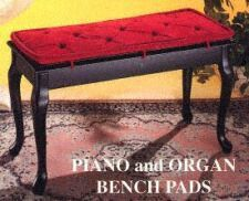Piano Bench Cushions Pads Several Styles Fabrics