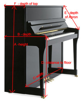 Upright Piano Covers Several Fabrics